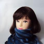 Манишка, шарф,снуд Зимняя находка (синий мультиколор)