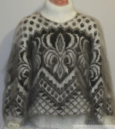 """Пуховый свитер """"Лилия"""". ручной работы на заказ"""