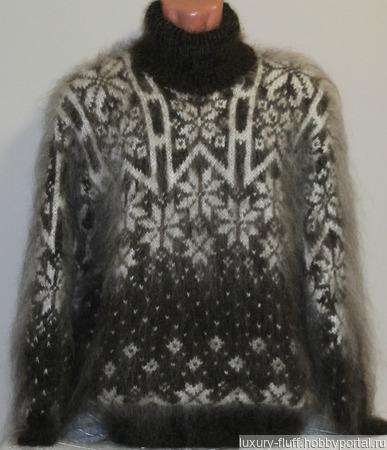 """Пуховый свитер """"Айсберг"""". ручной работы на заказ"""