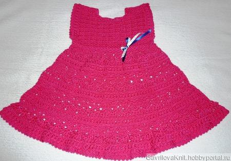 Малиновое платьице ручной работы на заказ
