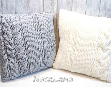 Подушка интерьерная вязаная ручной работы на заказ