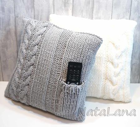 Подушка интерьерная с кармашком для пульта - оригинальный подарок. ручной работы на заказ