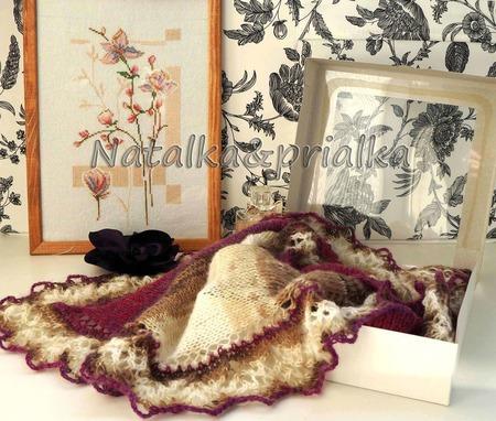 Шаль-фишю Пурпурная элегантность ручной работы на заказ