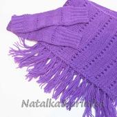 "Комплект ""Крокус"": шарф и митенки"