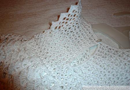 Белое платьице ручной работы на заказ