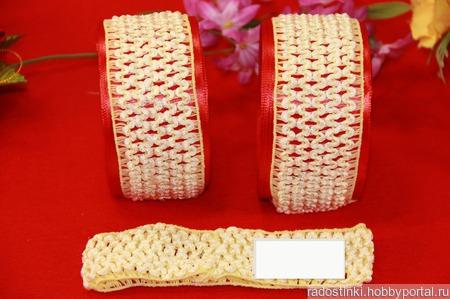 Повязки-основа 4см, цвет кремовый ручной работы на заказ