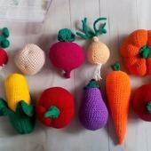 Вязаные овощи -Дары осени.
