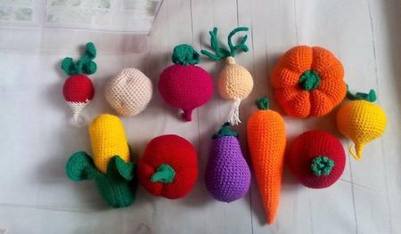 Вязаные овощи -Дары осени. ручной работы на заказ