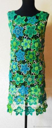 """Платье """"Лесная нимфа"""" (связанное в технике ирландское кружево) ручной работы на заказ"""