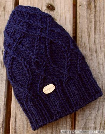 """Описание шапочки """"Adonis Blue"""" (""""Синий Адонис"""") ручной работы на заказ"""