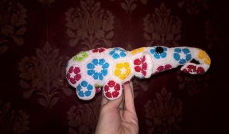 """Слон в технике """"Африканский цветок"""" ручной работы на заказ"""