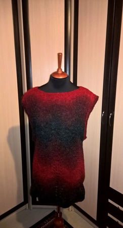 Теплое платье-туника ручной работы на заказ