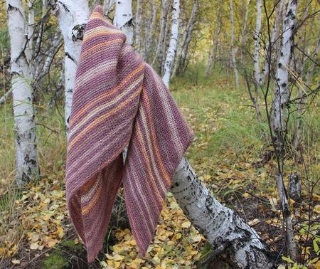 "Шаль ""Теплая осень"" ручной работы на заказ"