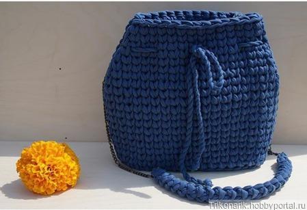Торба из трикотажной пряжи ручной работы на заказ