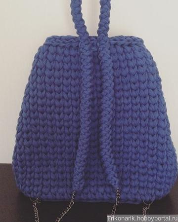 Рюкзак из трикотажной пряжи ручной работы на заказ