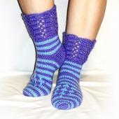 Теплые носки-сапожки.