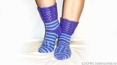 Теплые носки-сапожки. ручной работы на заказ