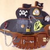 """Бизиборд """"Пиратский корабль"""""""