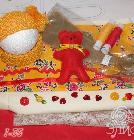 Набор для самостоятельного пошива куклы 1-35 ручной работы на заказ