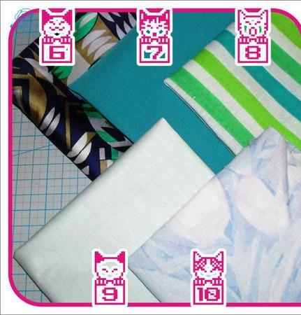 Лоскуты ткани для кукольной одежды ручной работы на заказ