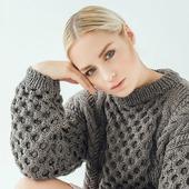 Модный вязаный свитер крупной вязки в Москве