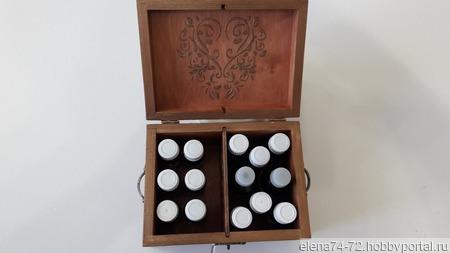 Шкатулка для эфирных масел ручной работы на заказ