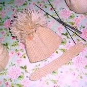 Шапочка и шарф для куклы Blithe или аналогичной