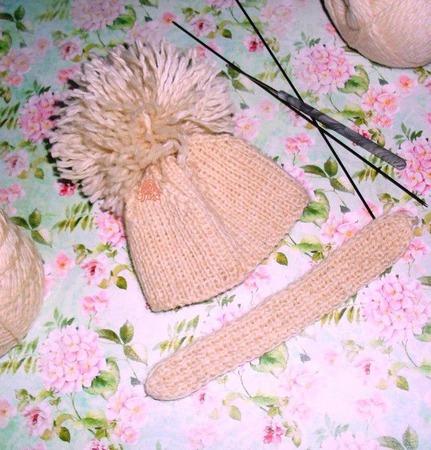 Шапочка и шарф для куклы Blithe или аналогичной ручной работы на заказ