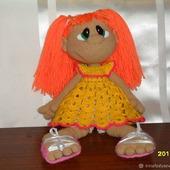 Кукла ЗЕФИРКА связана из акрила крючком. По мк Марии Сосковой