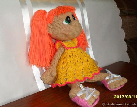 Кукла ЗЕФИРКА связана из акрила крючком. По мк Марии Сосковой ручной работы на заказ
