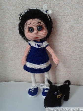 Кукла Соня с собачкой Кляксой ручной работы на заказ