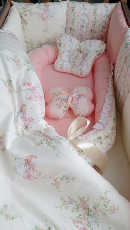 Бортики + кокон в кроватку ручной работы на заказ
