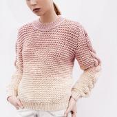 Купить стильный вязаный свитер ручной работы в Москве