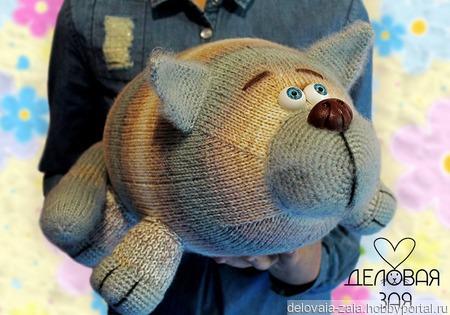 МК Кот игрушка - подушка ручной работы на заказ