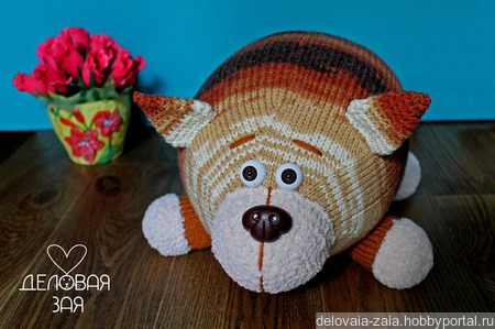 Котик игрушка-подушка ручной работы на заказ