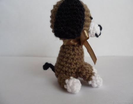 Игрушка вязаная Собачка в подарок Новый год-2018 ручной работы на заказ