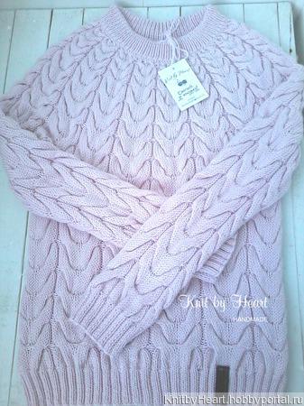 Вязаный свитер ROSE от Knit by Heart ручной работы на заказ