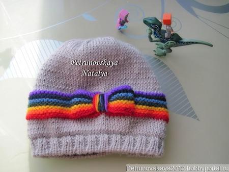 """Шапочка """"Rainbow"""" (для девочки) ручной работы на заказ"""