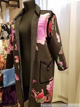 Авторское двустороннее пальто ручной работы на заказ