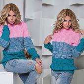 Стильный вязаный свитер ручной работы в Москве