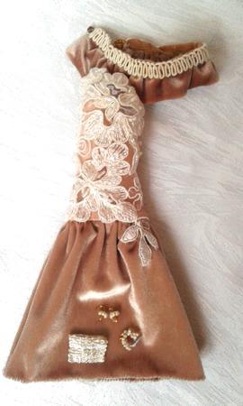 """""""Крем-брюле"""" - вечернее платье для барби ручной работы на заказ"""