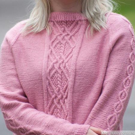 Женская кофта - пуловер ручной работы на заказ