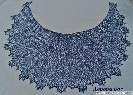 Описание и схемы к шали Аврора ручной работы на заказ