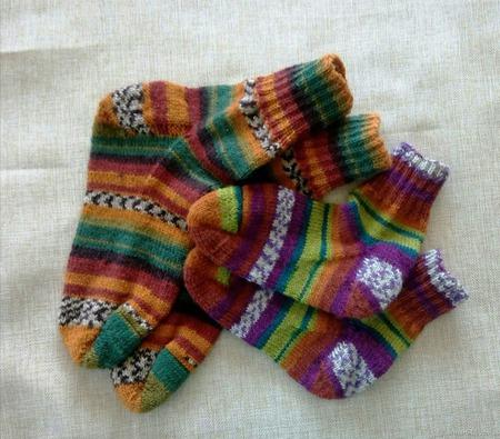 Носки тонкие, но теплые из Супервош ручной работы на заказ
