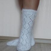 """Носки """"в подарок №3""""-вязанные,теплые,пуховые"""