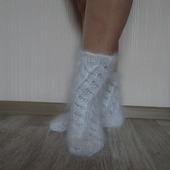 Носочки вязанные тёплые, пуховые.