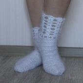 Носки вязанные - подарочные,праздничные