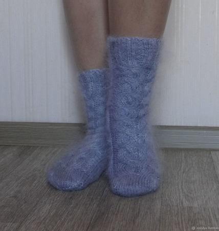 """Носки """"Подарок к празднику""""-вязанные,теплые,пуховые ручной работы на заказ"""