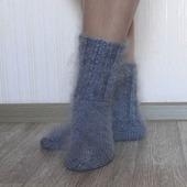 """Носки пуховые""""Зимушка-1""""-вязанные,теплые."""