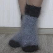 """Носки пуховые""""Зимушка""""-вязанные,теплые."""